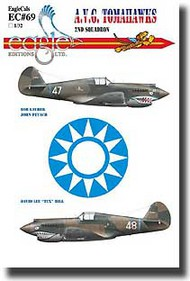 EagleCal Decals  1/32 Collection - AVG Flying Tigers 2nd Squadron EL32069