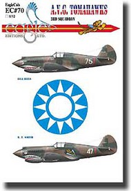 EagleCal Decals  1/32 Collection - AVG Flying Tigers 3rd Squadron EL32070