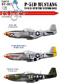 EagleCal Decals  1/32 P-51D Mustang- To War With The Yoxford Boys EL32103