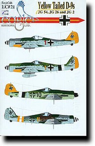 EagleCal Decals  1/32 Yellow Tailed Fw.190D-9s from JG 54, JG 26 and JG 2 EL32021