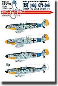 EagleCal Decals  1/32 Messerschmitt Bf.109Gs JG 54 and JG 51 EL32038