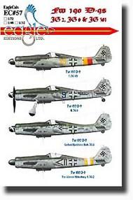 EagleCal Decals  1/32 Fw.190D-9s JG2, JG6, JG301 EL32057
