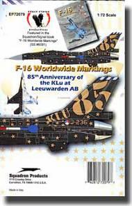 Eagle Strike Decals  1/72 F-16 85th Anniversary of the Klu at Leeuwarden AB EAG72079