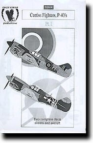 Eagle Strike Decals  1/32 Collection - Curtiss Fighters, P-40s Pt.1 EAG32014