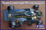 Ebbro Plastic Model Kits  1/20 1982 Lotus Type 91 Team Lotus F1 British Grand Prix Race Car EBB12