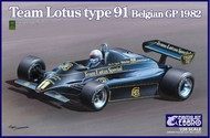 Ebbro Plastic Model Kits  1/20 1982 Lotus Type 91 Team Lotus F1 Belgian Grand Prix Race Car EBB19