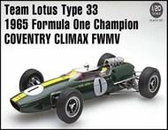 Ebbro Plastic Model Kits  1/20 1965 Lotus Type 33 Team Lotus F1 Coventry Climax FWMV Grand Prix Champion Race Car - Pre-Order Item EBB27