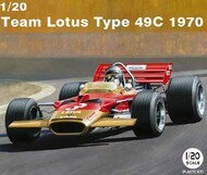 Ebbro Plastic Model Kits  1/20 1970 Lotus Type 49C Team Lotus F1 Race Car - Pre-Order Item EBB6