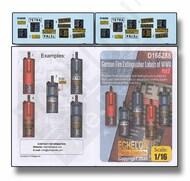 Echelon Fine Details  1/16 German Fire Extinguisher Labels of WW2 Part 2 ECH166288