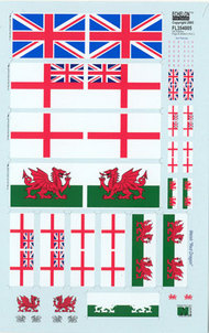 Echelon Fine Details  1/35 UK Antenna Flags & Stickers Pt2 (D)<!-- _Disc_ --> ECH354005