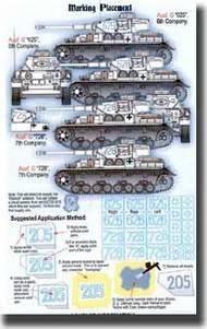 Echelon Fine Details  1/35 Panzer IV G Kharkov Lssah Numbers Paint Masks D ECH356039