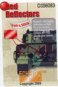 Red Reflectors for Modern Swedish AFVs #ECH356083