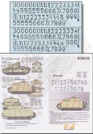 Echelon Fine Details  1/35 Generic LASSAH Turret Numbers for Med Panzers Kursk 1943 (D)<!-- _Disc_ --> ECH356136