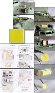 Echelon Fine Details  1/35 AMX30B & AUF1 155mm SPH Vision Block & Panel Masks for MGK ECH356160