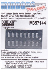 Echelon Fine Details  1/35 British Mk VI Light Tank Mirrors for VSM (Peel & Stick) (D)<!-- _Disc_ --> ECH357144