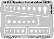 Eduard Models  1/144 STEEL Template ovals & oblong EDU0031