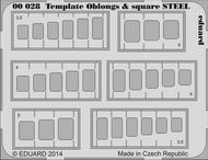 Eduard Models  1/144 STEEL Template oblongs & squares EDU0028