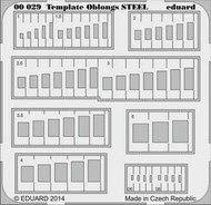 Eduard Models  1/144 STEEL Template oblongs EDU0029