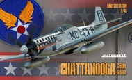 P-51Ds 'Chattanooga' WWII Fighter w/Tail Fin (Ltd Edition Plastic Kit) #EDU11134