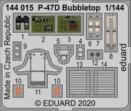 P-47D Bubbletop for EDU & PAZ (Painted) #EDU144015
