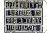 Eduard Models  1/350 Naval Figures Royal Navy  S.A. EDU17514