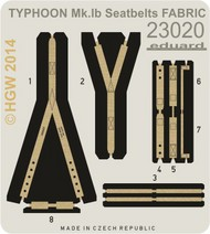Eduard Models  1/24 Aircraft- Seatbelts Fabric-Type Typhoon Mk Ib for ARX (Painted) EDU23020