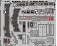 Eduard Models  1/24 Aircraft- Typhoon Mk Ib Car Door Interior for ARX (Painted) EDU23022
