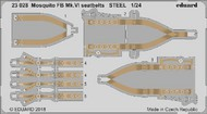Eduard Accessories  1/24 Aircraft- Seatbelts Mosquito FB Mk VI Steel for ARX (Painted) EDU23028