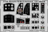 Eduard Models  1/24 Aircraft- Mosquito FB Mk VI Dashboard for ARX (Painted) EDU23029