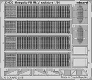 Eduard Models  1/24 Aircraft- Mosquito FB Mk VI Radiators for ARX EDU23030