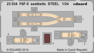 Eduard Models  1/24 Aircraft- Seatbelts F6F-5 Steel for ARX EDU23034