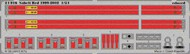 Eduard Models  1/24 Racing Car Seatbelts- Sabelt 1999-02 Red (Painted) EDU24016