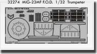 Eduard Accessories  1/32 Mig-23MF F.O.D. PE-SETS EDU32274