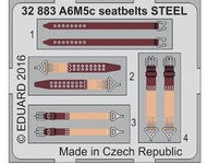 Eduard Models  1/32 Aircraft- Seatbelts A6M5c Steel for HSG (Painted) EDU32883
