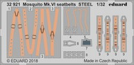 Seatbelts Mosquito Mk VI Steel for TAM (Painted) #EDU32921