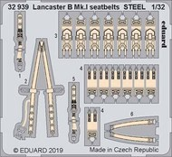 Aircraft- Seatbelts Lancaster B Mk I Steel for HKM (Painted) #EDU32939