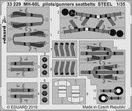 Eduard Accessories  1/35 MH-60L pilots/gunners seatbelts STEEL EDU33229
