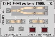 Curtiss P-40N Kittyhawk seatbelts STEEL #EDU33245