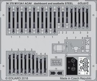 Eduard Models  1/35 Armor- M113A ACAV Dashboard & Seatbelts Steel for AFV (Painted) EDU36378