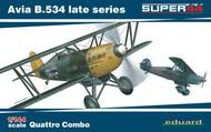 Eduard Models  1/144 Avia B534 Late Series Aircraft Quattro Combo (Ltd Edition Plastic Kit) EDU4452