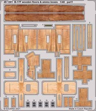 Boeing B-17F Flying Fortress wooden floors & ammo boxes #EDU491201