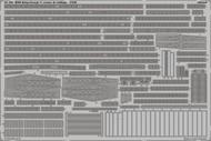 Eduard Accessories  1/350 Ship- HMS King George V Cranes & Railings for TAM EDU53165