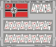 Eduard Models  1/48 Ship- German U-Boat Flags (Painted) EDU53196