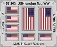 Eduard Models  1/700 Ship- WWII USN Ensign Flag Steel (Painted) EDU53203