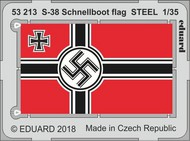 Eduard Models  1/35 Ship- S-38 Schnellboot Flag Steel for ITA (Painted) EDU53213