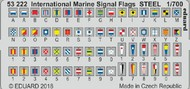 Eduard Models  1/700 Ship- International Marine Signal Flags Steel (Painted) EDU53222