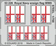 Eduard Models  1/700 Ship- WWII Royal Navy Ensign Flag Steel (Painted) EDU53226