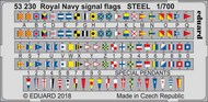 Ship- Royal Navy Signal Flags Steel (Painted) #EDU53230