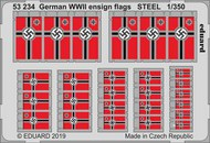 German WWII ensign flags STEEL #EDU53234