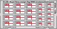Royal Navy ensign flag WWII (cruisers/destroyers) STEEL #EDU53246